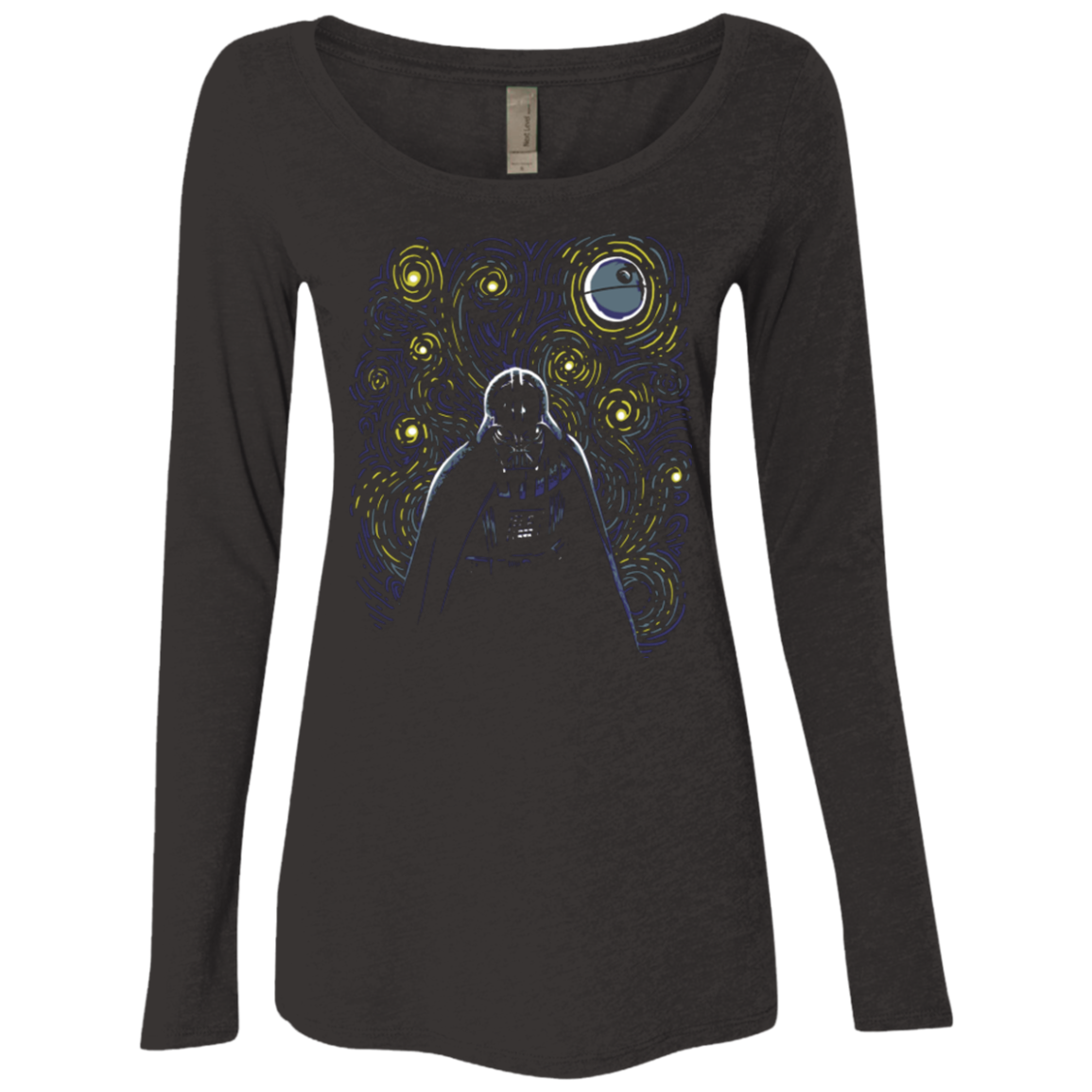 Starry Dark Side Women's Triblend Long Sleeve Shirt