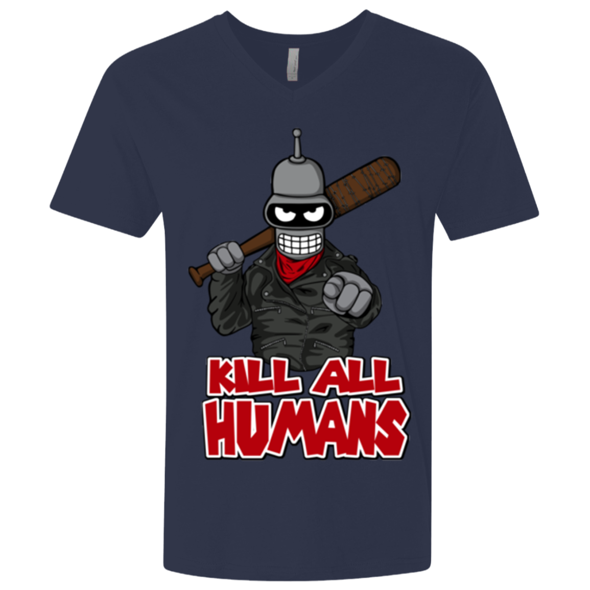 The Walking Bot Men's Premium V-Neck