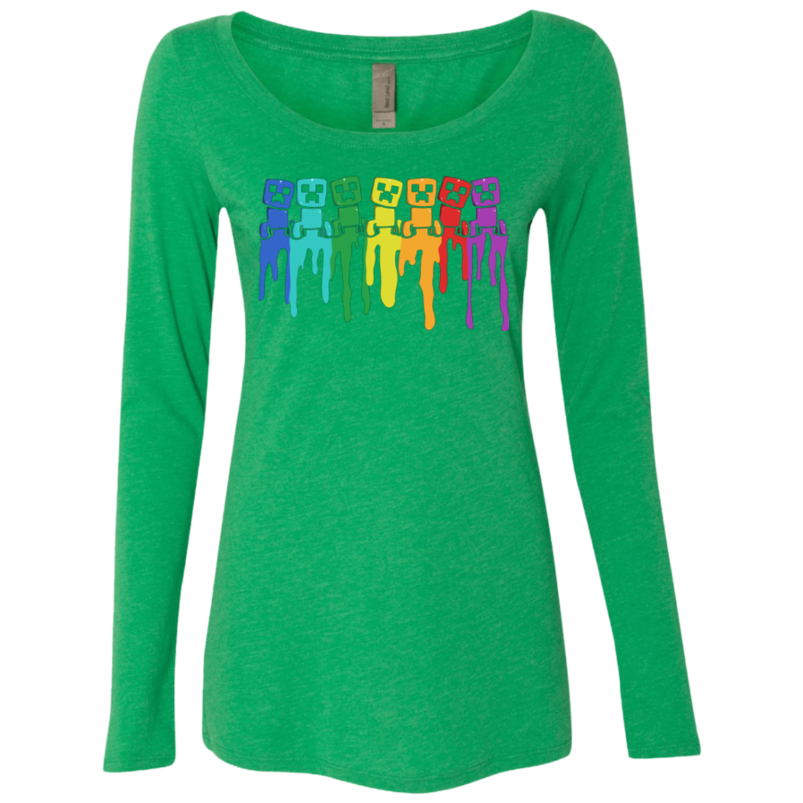 Rainbow Creeps Women's Triblend Long Sleeve Shirt