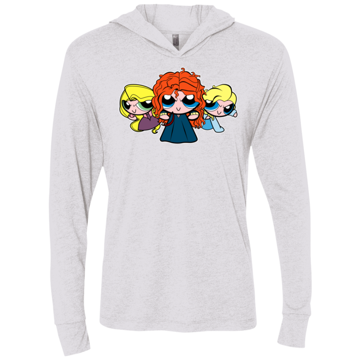 Princess Puff Girls2 Triblend Long Sleeve Hoodie Tee