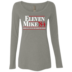 Eleven Mike 84 - Should I Stay or Should Eggo Women's Triblend Long Sleeve Shirt