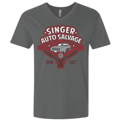 Singer Auto Salvage Men's Premium V-Neck