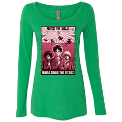 Protect the Walls Women's Triblend Long Sleeve Shirt