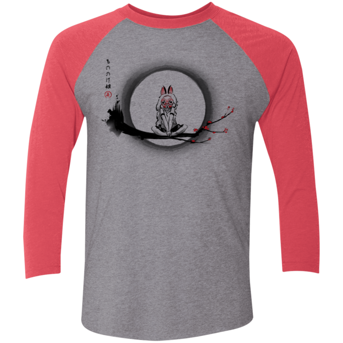The Wolf Girl Men's Triblend 3/4 Sleeve