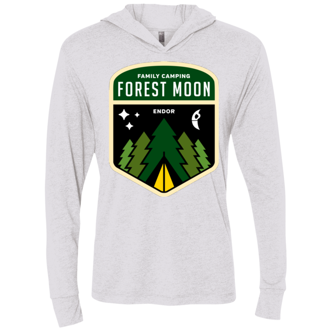 Forest Moon Triblend Long Sleeve Hoodie Tee