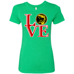 Red Ranger LOVE Women's Triblend T-Shirt