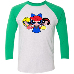 Princess Puff Girls Men's Triblend 3/4 Sleeve