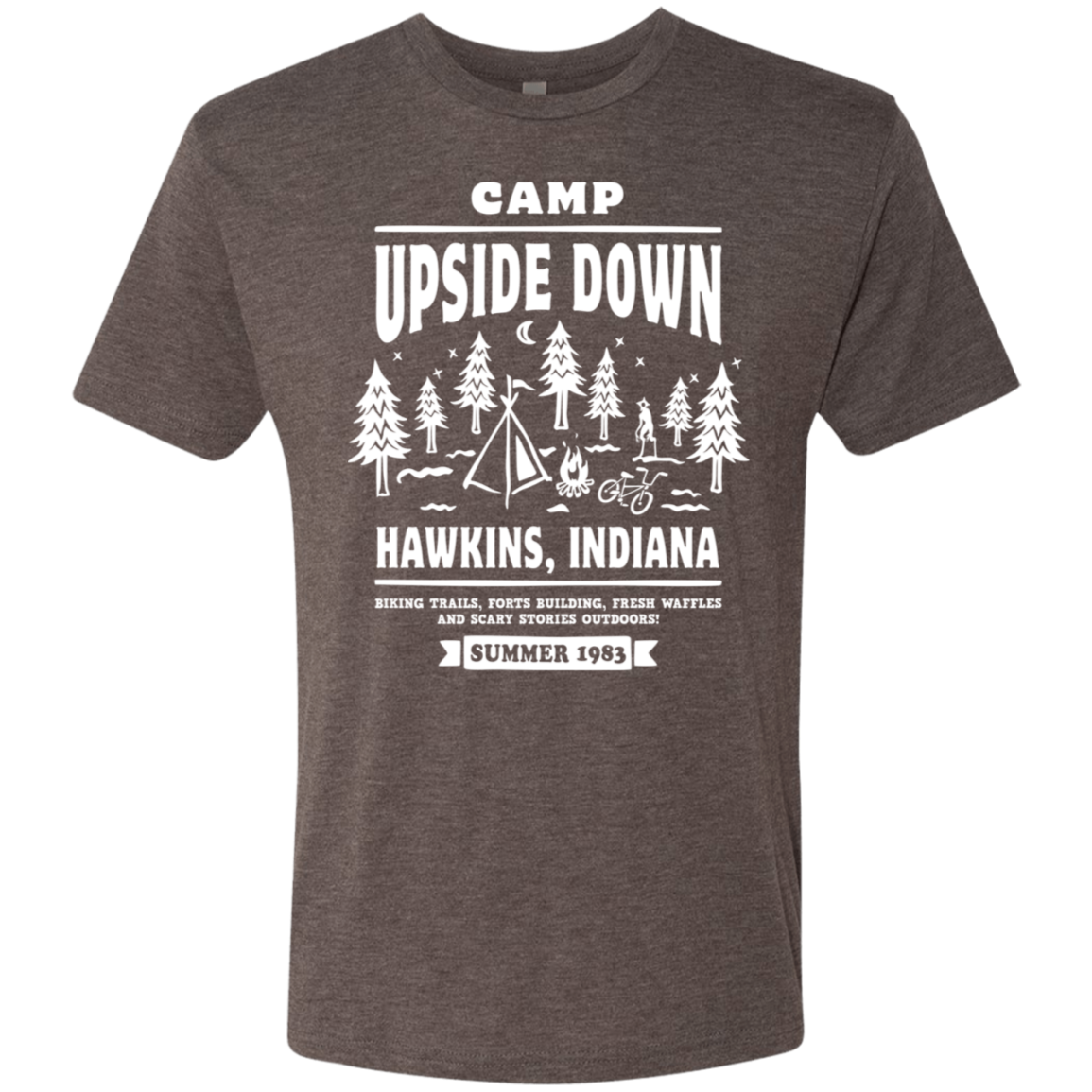 Camp Upside Down Men's Triblend T-Shirt