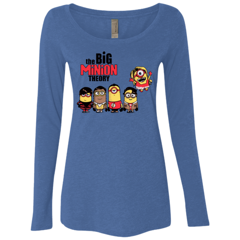 THE BIG MINION THEORY Women's Triblend Long Sleeve Shirt