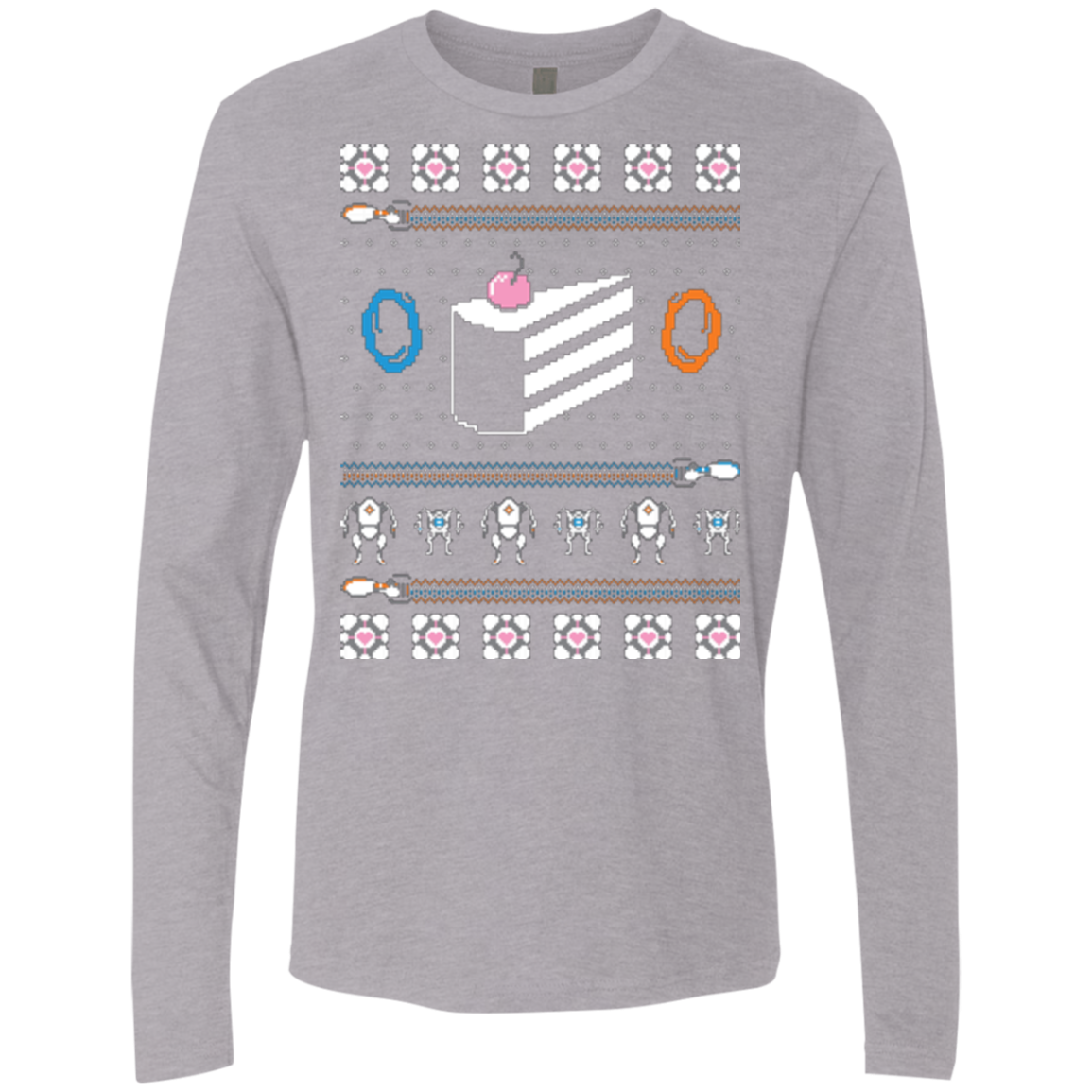 The Christmas Cake Is A Lie Men's Premium Long Sleeve