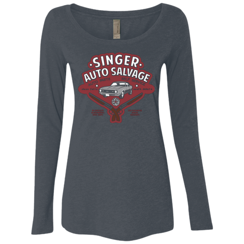 Singer Auto Salvage Women's Triblend Long Sleeve Shirt