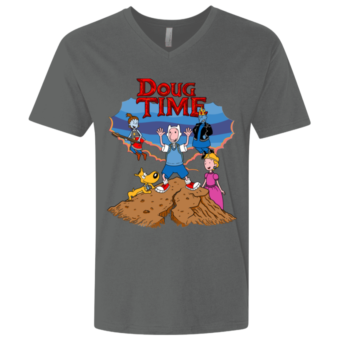Doug Time Men's Premium V-Neck