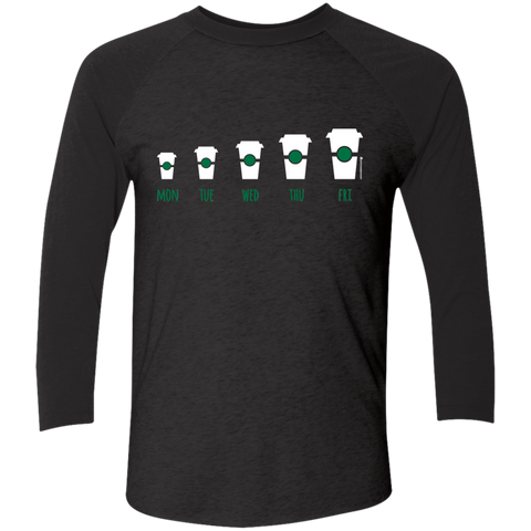 Coffee Week Men's Triblend 3/4 Sleeve