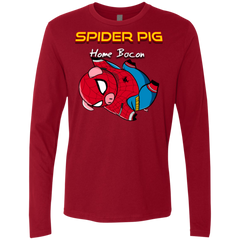 Spider Pig Hanging Men's Premium Long Sleeve