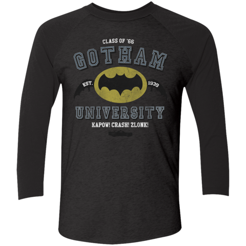 Gotham University Men's Triblend 3/4 Sleeve