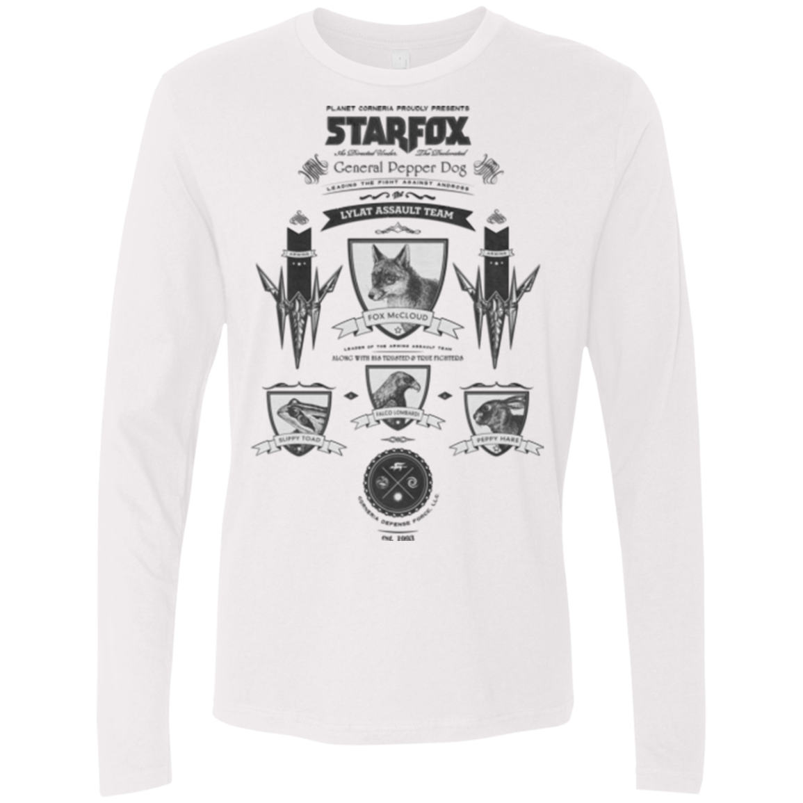 Star Fox Vintage Men's Premium Long Sleeve