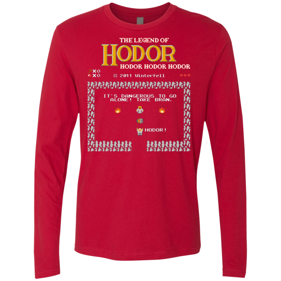 The Legend of Hodor Men's Premium Long Sleeve