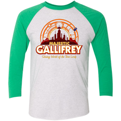 Majestic Gallifrey Triblend 3/4 Sleeve