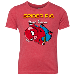 Spider Pig Hanging Youth Triblend T-Shirt