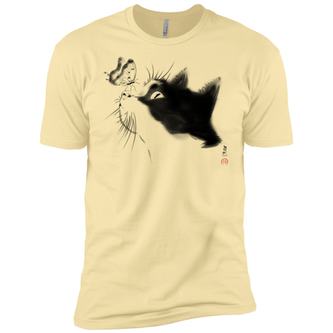 Curious Cat Men's Premium T-Shirt