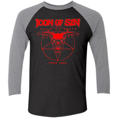 Icon of Sin Men's Triblend 3/4 Sleeve