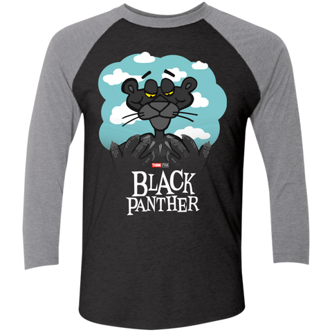 Return of the Black Panther Men's Triblend 3/4 Sleeve