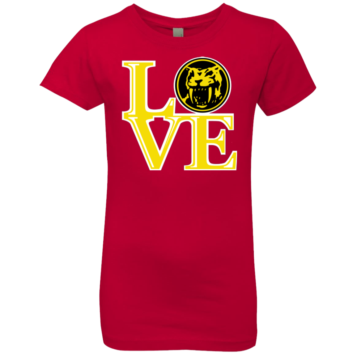 Yellow Ranger LOVE Girls Premium T-Shirt
