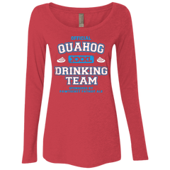 Quahog Drinking Team Women's Triblend Long Sleeve Shirt