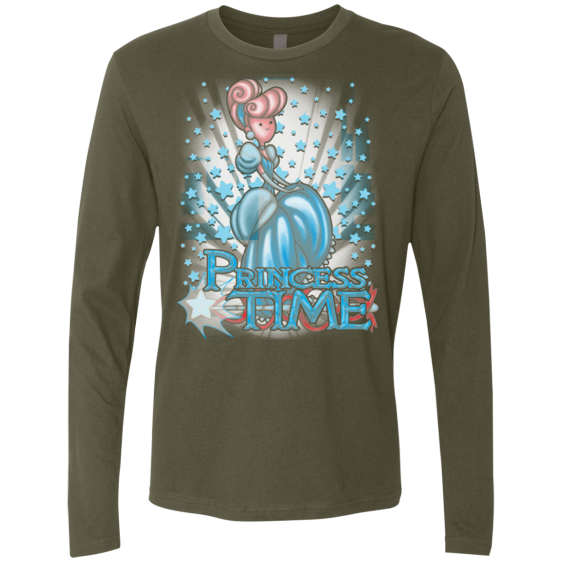 Princess Time Cinderella Men's Premium Long Sleeve