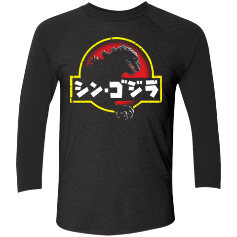 King Kaiju (2) Men's Triblend 3/4 Sleeve