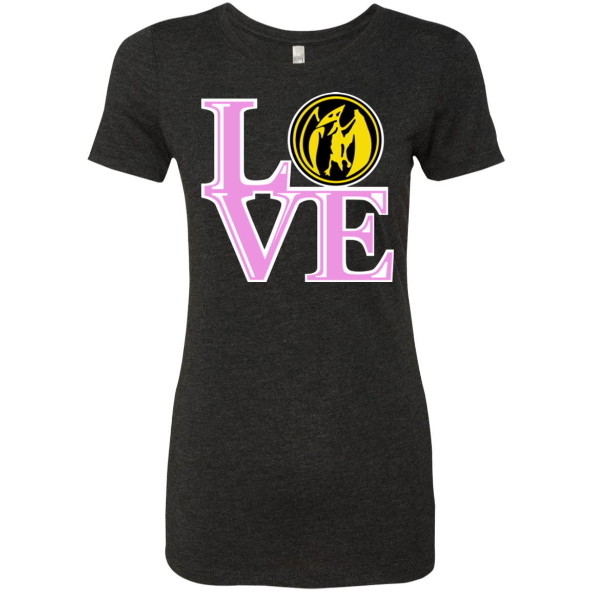 Pink Ranger LOVE Women's Triblend T-Shirt