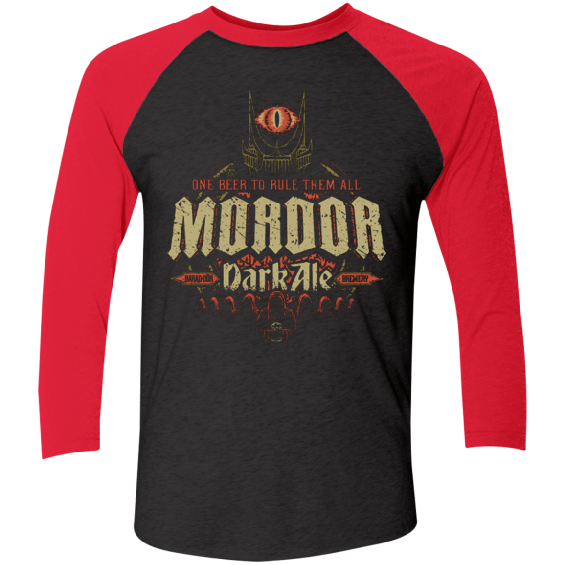 Mordor Dark Men's Triblend 3/4 Sleeve