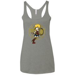Wonder Peach Women's Triblend Racerback Tank