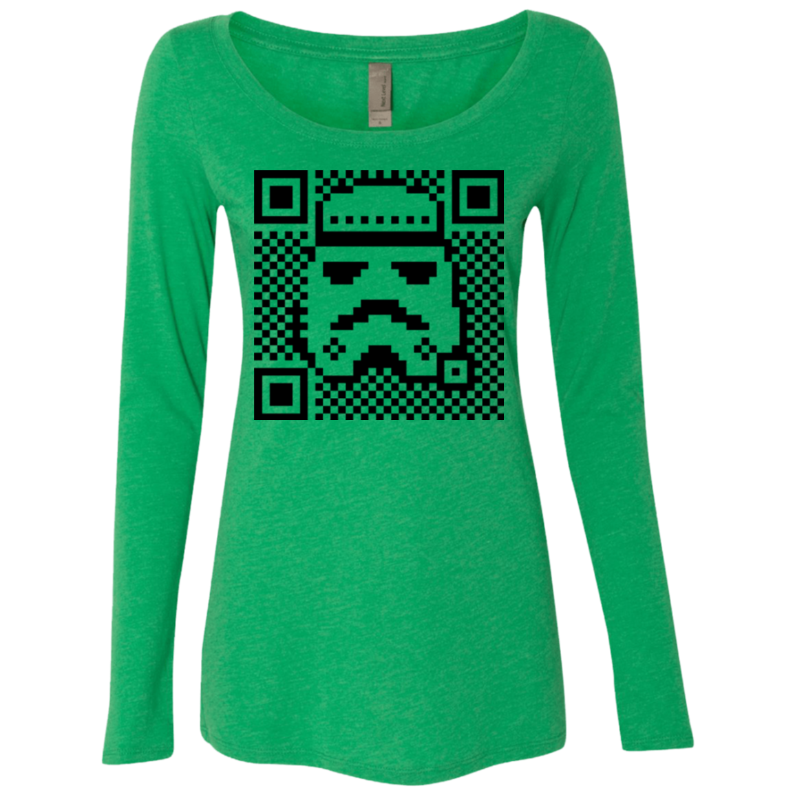 QR trooper Women's Triblend Long Sleeve Shirt