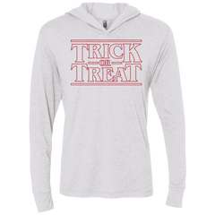 Trick Or Treat Triblend Long Sleeve Hoodie Tee