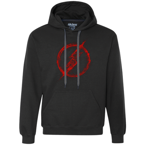 FLASH RED SMOKE Premium Fleece Hoodie