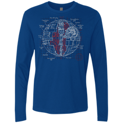 Death Star Plan Men's Premium Long Sleeve