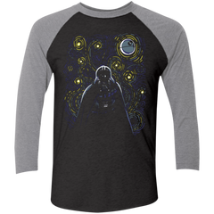 Starry Dark Side Men's Triblend 3/4 Sleeve