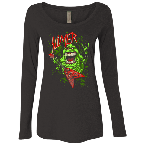 Slimer Thrashin Mad Women's Triblend Long Sleeve Shirt