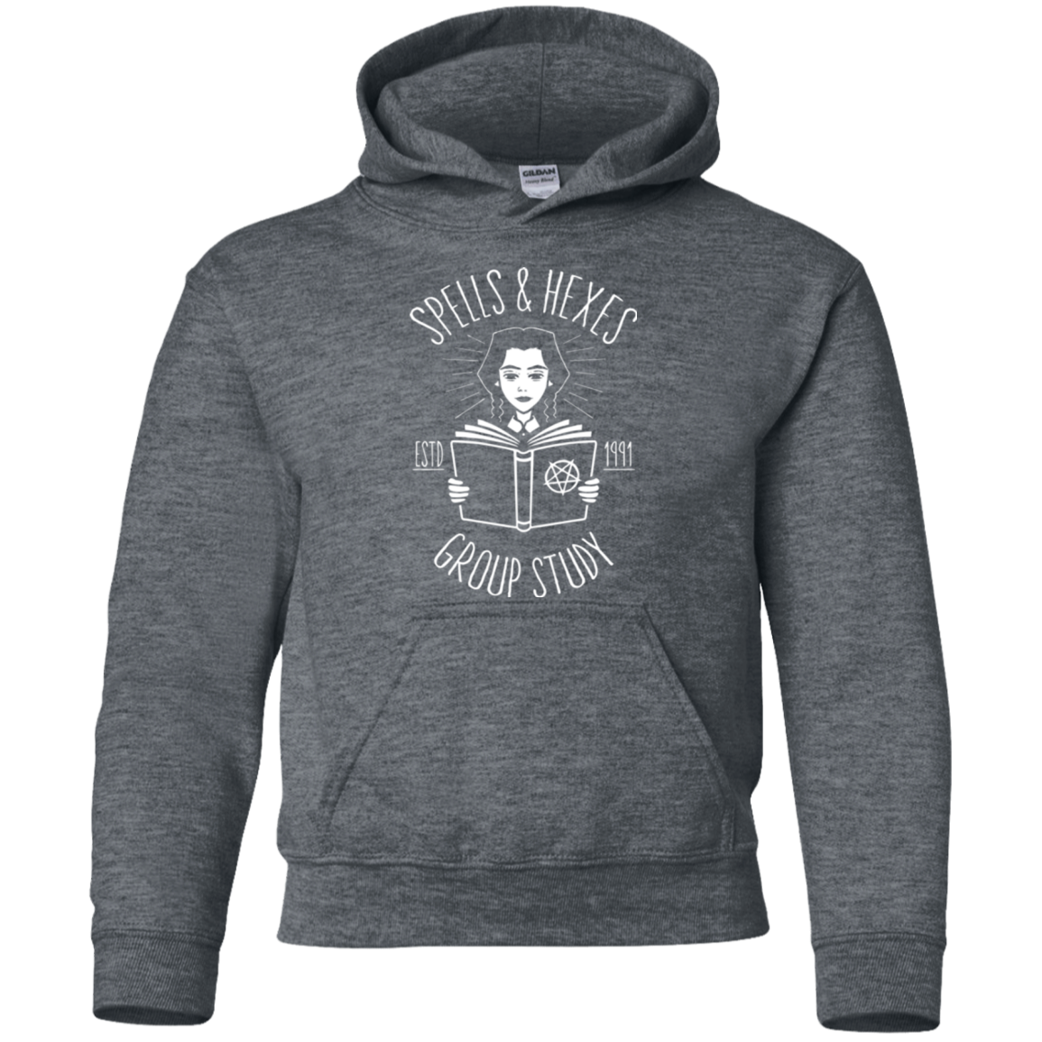 Spells and Hexes Group Study Youth Hoodie