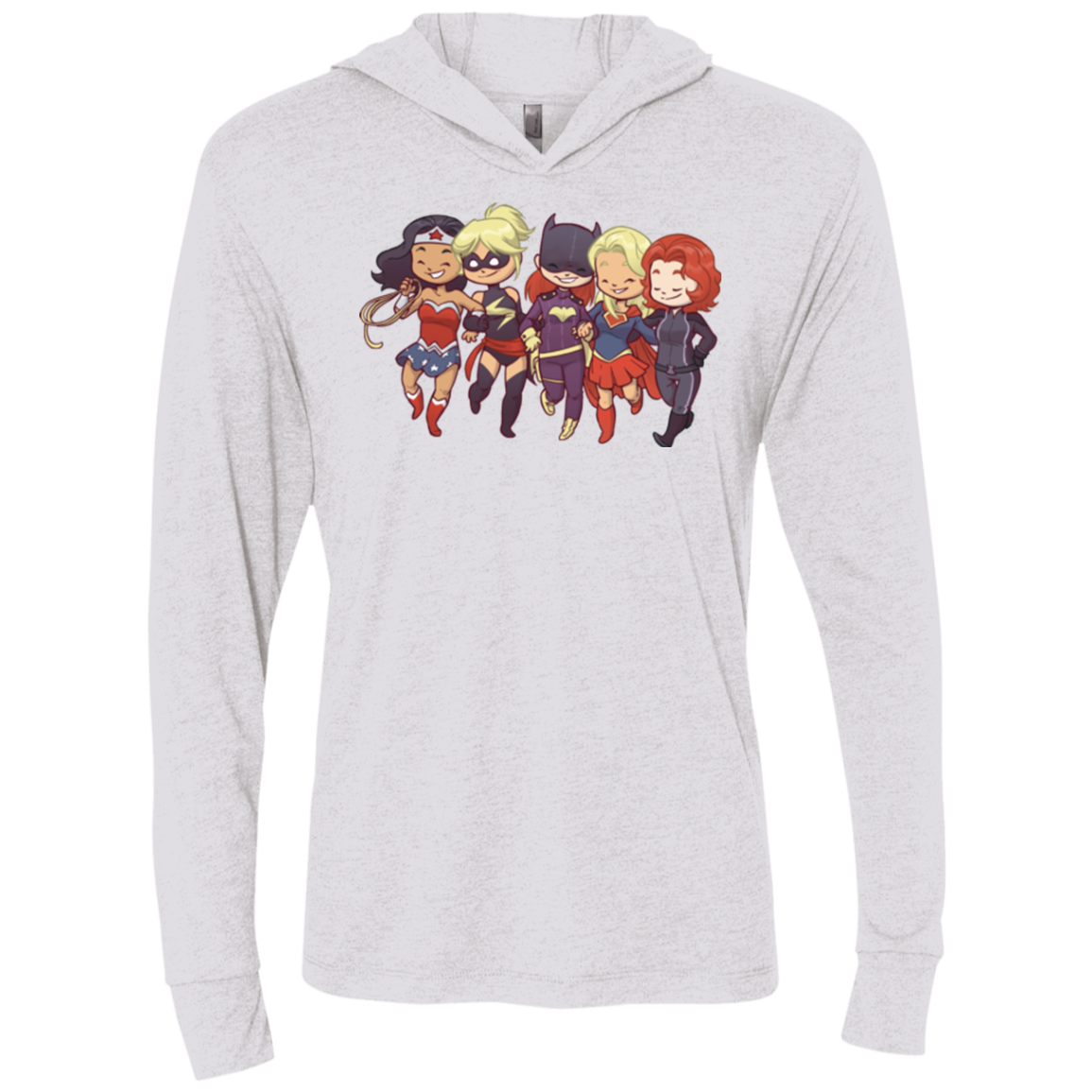 Power Girls Triblend Long Sleeve Hoodie Tee