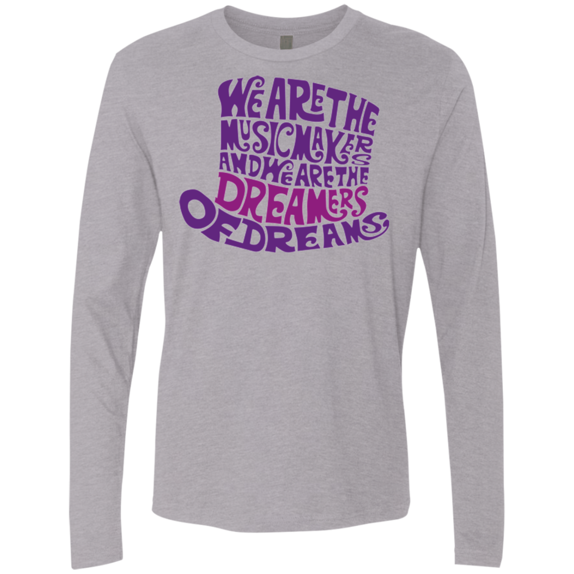 Wonka Purple Men's Premium Long Sleeve