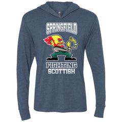 Fighting-Scotts Triblend Long Sleeve Hoodie Tee
