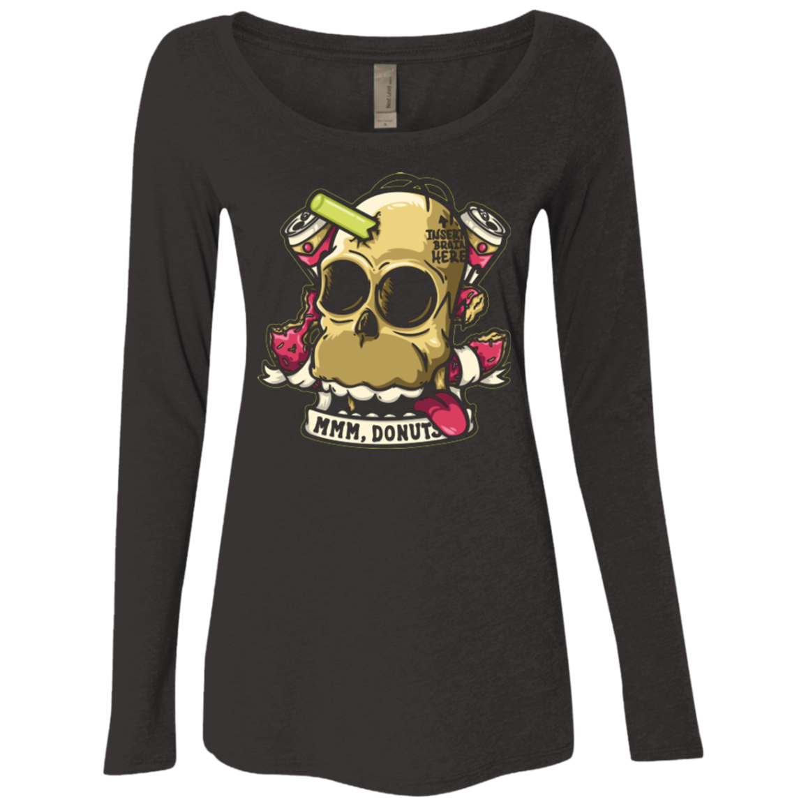 Insert Brain Here Women's Triblend Long Sleeve Shirt