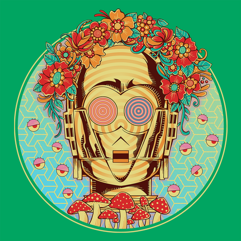 Hippie Droid T-Shirt