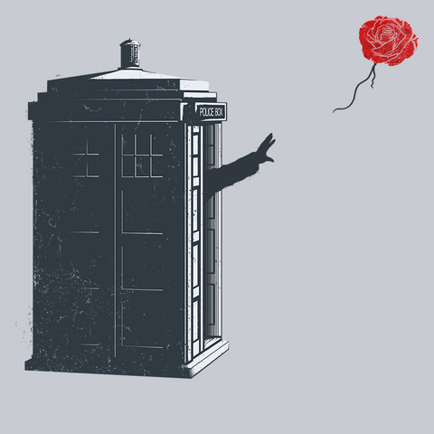 Dr Banksy Rose Balloon