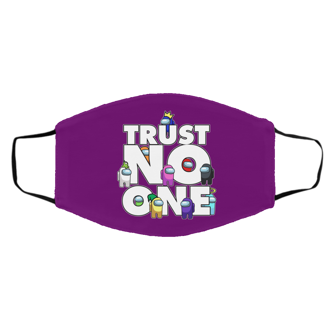 Accessories Purple / One Size Among Us Trust No One Face Mask