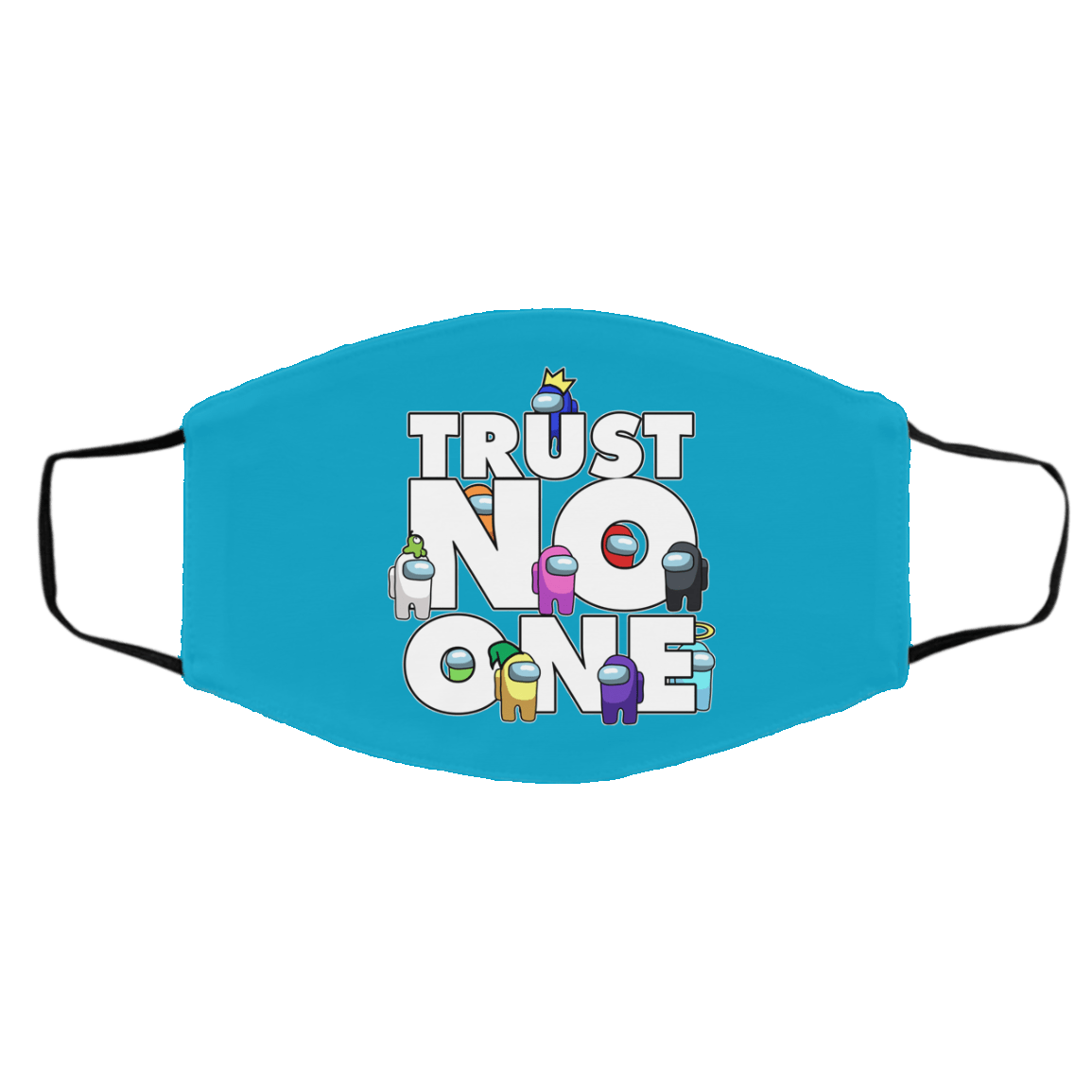 Accessories Turquoise / One Size Among Us Trust No One Face Mask