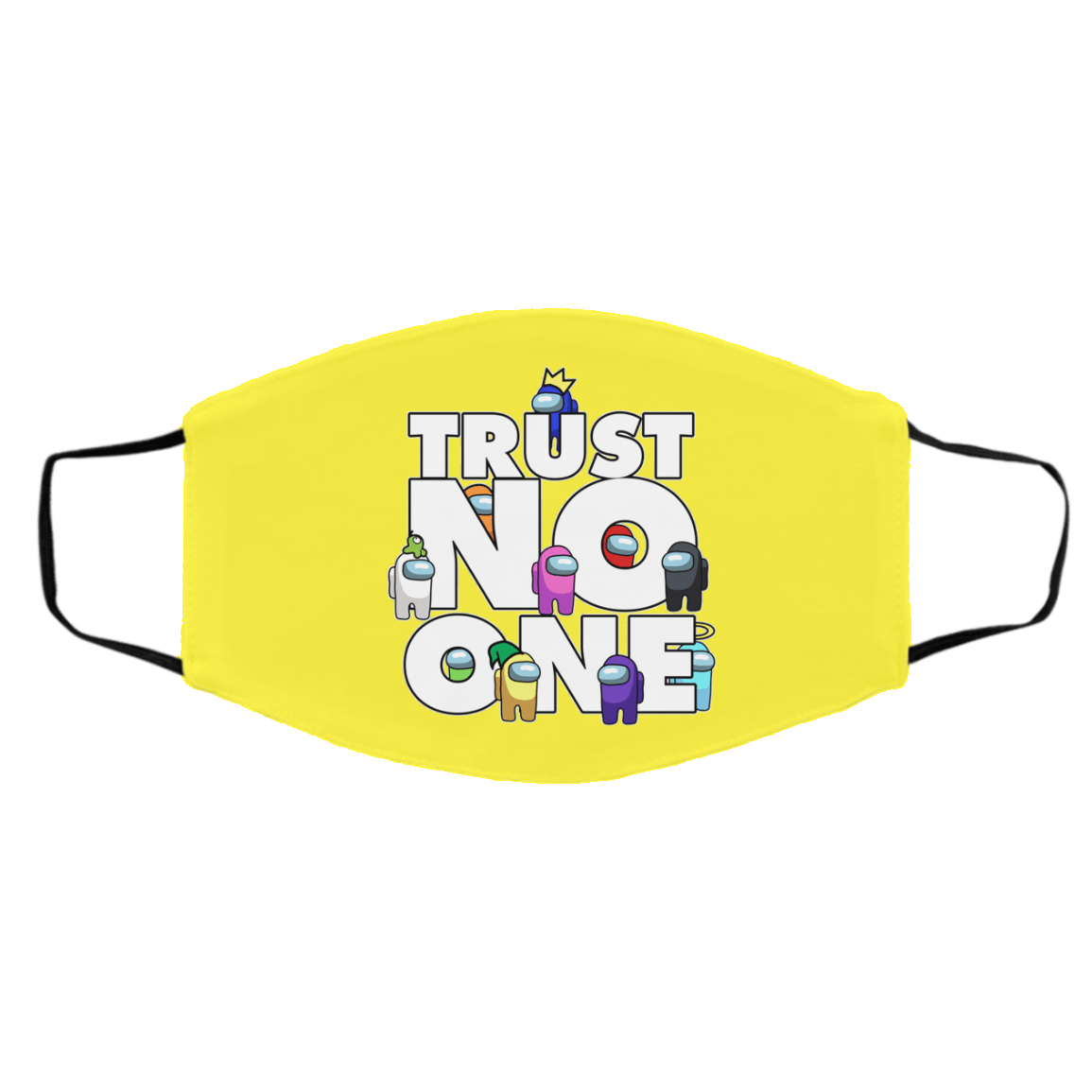 Accessories Yellow / One Size Among Us Trust No One Face Mask