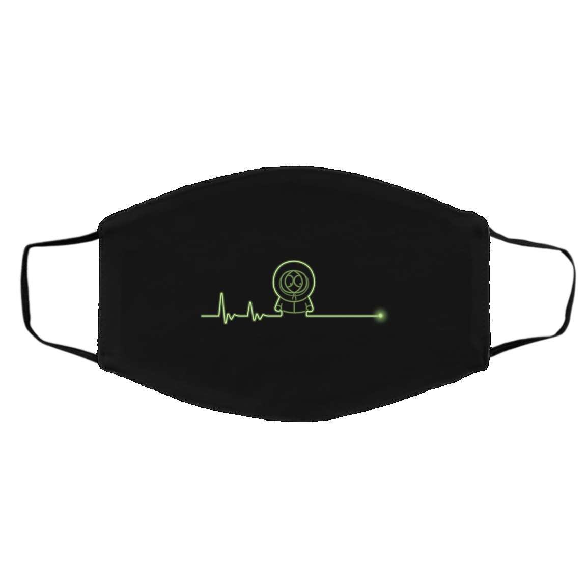 Accessories Black / One Size Confused Heartbeat Face Mask